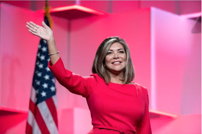 Former Texas Supreme Court Justice Eva Guzman at the Texas Republican Convention at the Henry...