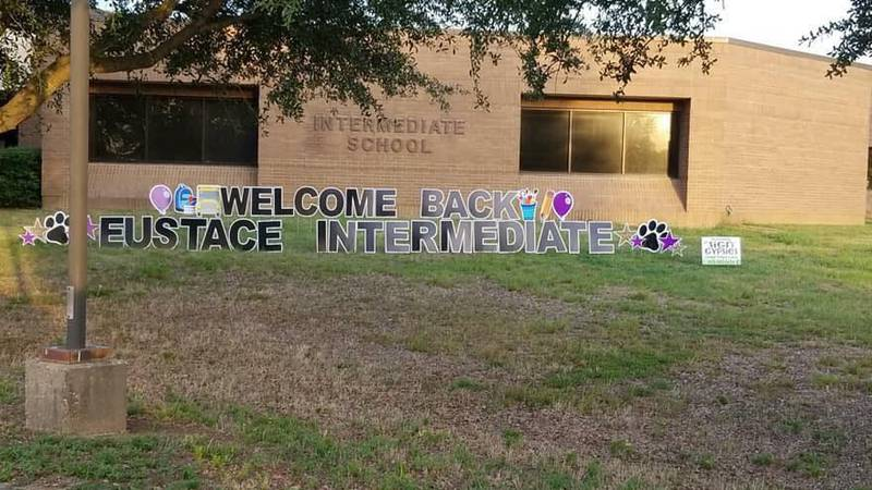 In this August 2018 file photo, a sign welcomes students to Eustace Intermediate School.