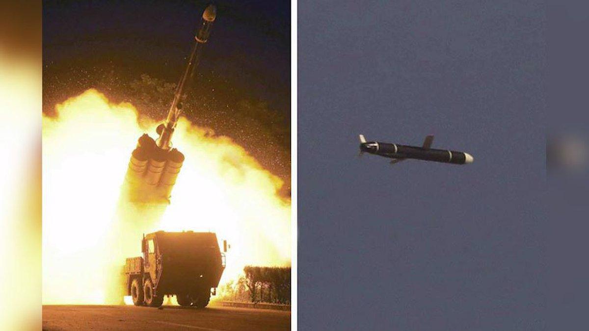 """Corea del Norte elogió sus nuevos misiles como un """"arma estratégica de gran importancia"""" que..."""