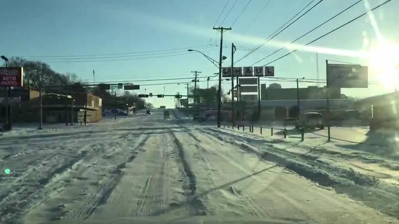 WebXtra: Icy roads in Longview