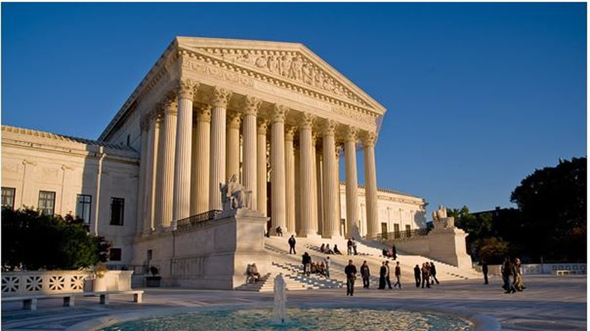 West facade of the Supreme Court Building in Washington.