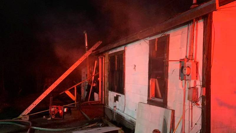 Fire on Quitman Avenue in Gladewater. (Source: Gladewater Fire)