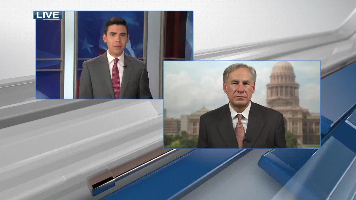 Gov. Abbott interview with Blake Holland KLTV