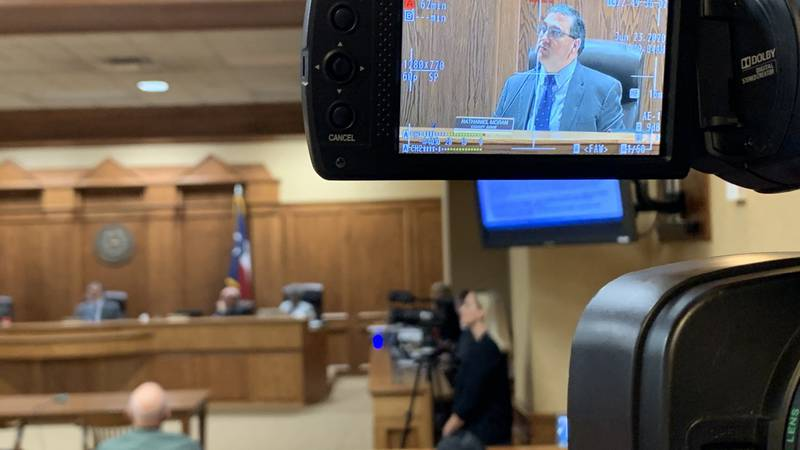 Smith County Judge Nathaniel Moran updates the county on COVID-19 cases during the Smith County...